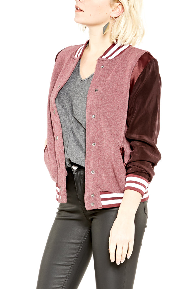 Hard Tail Cara Bomber Jacket in Fig