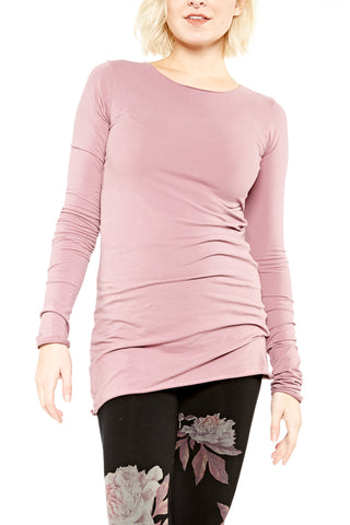 Hard Tail Long Sleeve Long Vintage Tee in Fig
