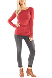 Hard Tail Long Skinny Tee in Valentine