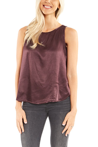 Veronica M. V-Neck Suede Tank in Black