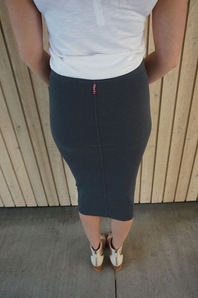Hard Tail Calf Length Pencil Skirt