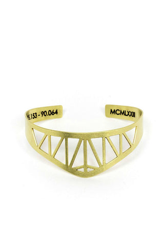 Betsy & Iya Bay Bridge Cuff Brass