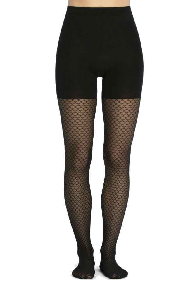 SPANX Honey Comb Fishnet Mid-Thigh Shaping Tights