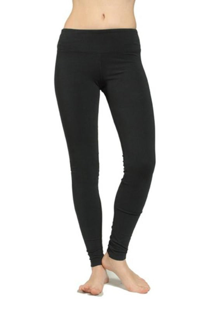 Hard Tail Flat Waist Ankle Leggings in Black