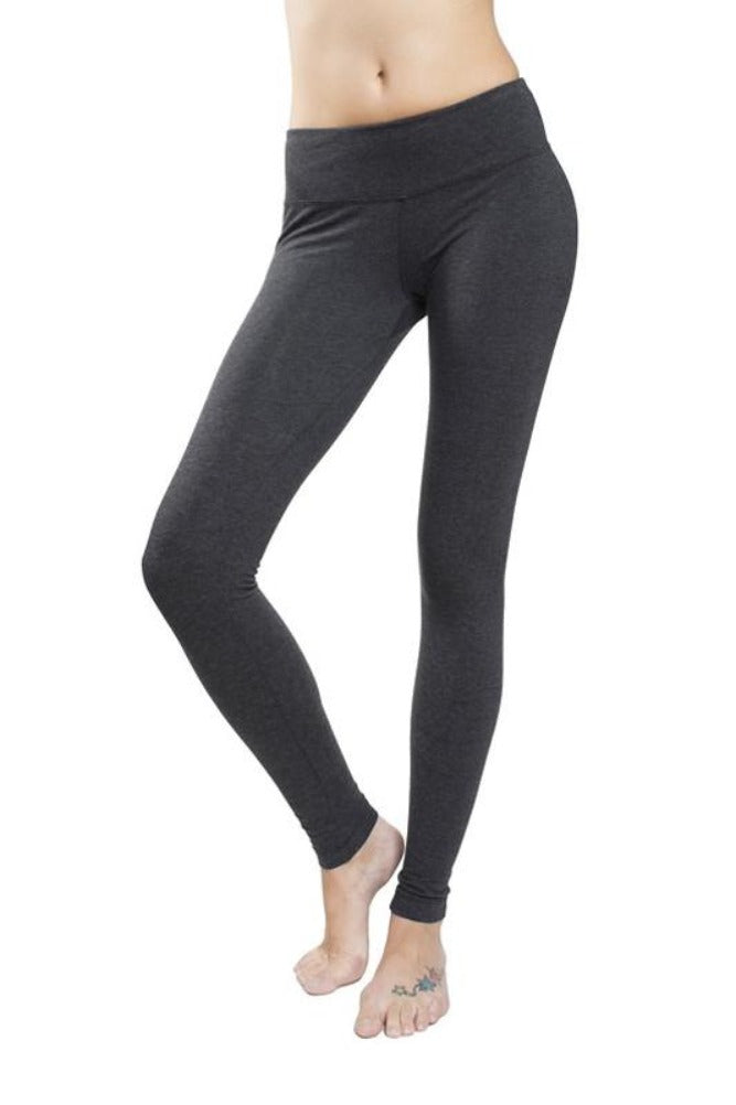 5e6db35187aff ... Hard Tail Flat Waist Ankle Leggings in Dark Charcoal ...