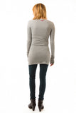 Hard Tail Long Skinny Tee in Heather Gray
