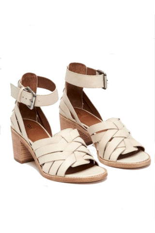 Seeded Hand Sown Chevron Sandal in Bullet