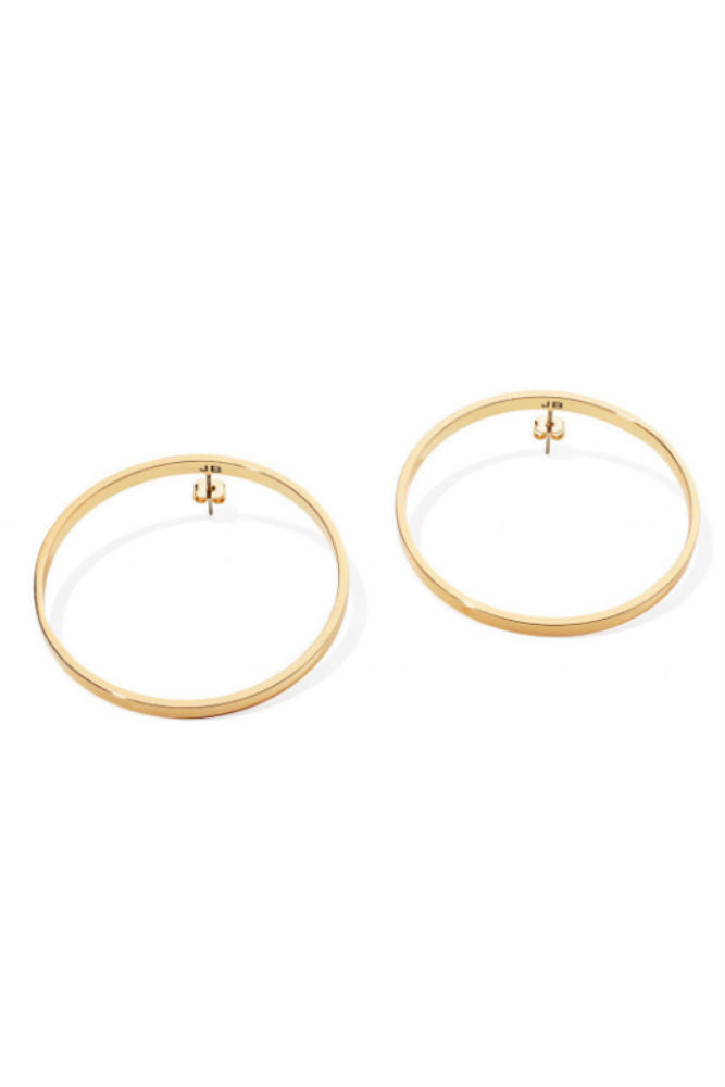 Jenny Bird Medium Hula Hoop Earrings Gold