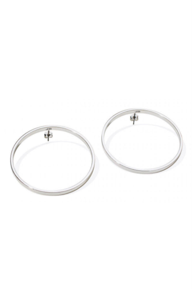 Jenny Bird Medium Hula Hoop Earrings Silver