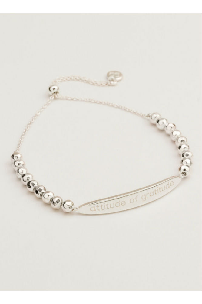 Gorjana Intention Bracelet in Attitude of Gratitude Silver