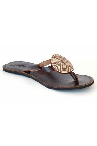 Seeded Hand Sown Sahara Sandal in Neutrals