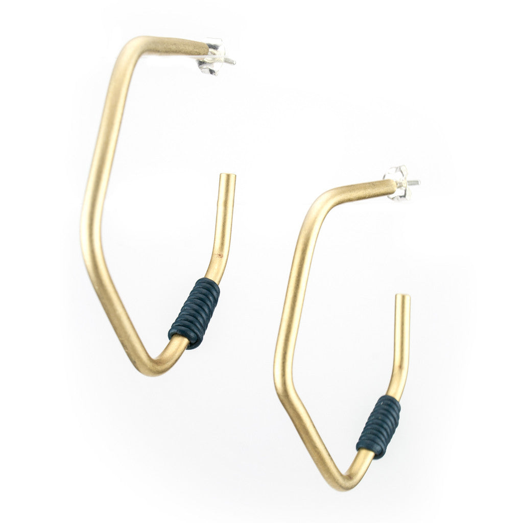 Betsy & Iya James John Hoop Earrings