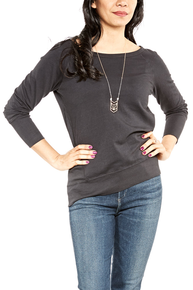 Katie Brown LA French Terry Sweatshirt in Charcoal