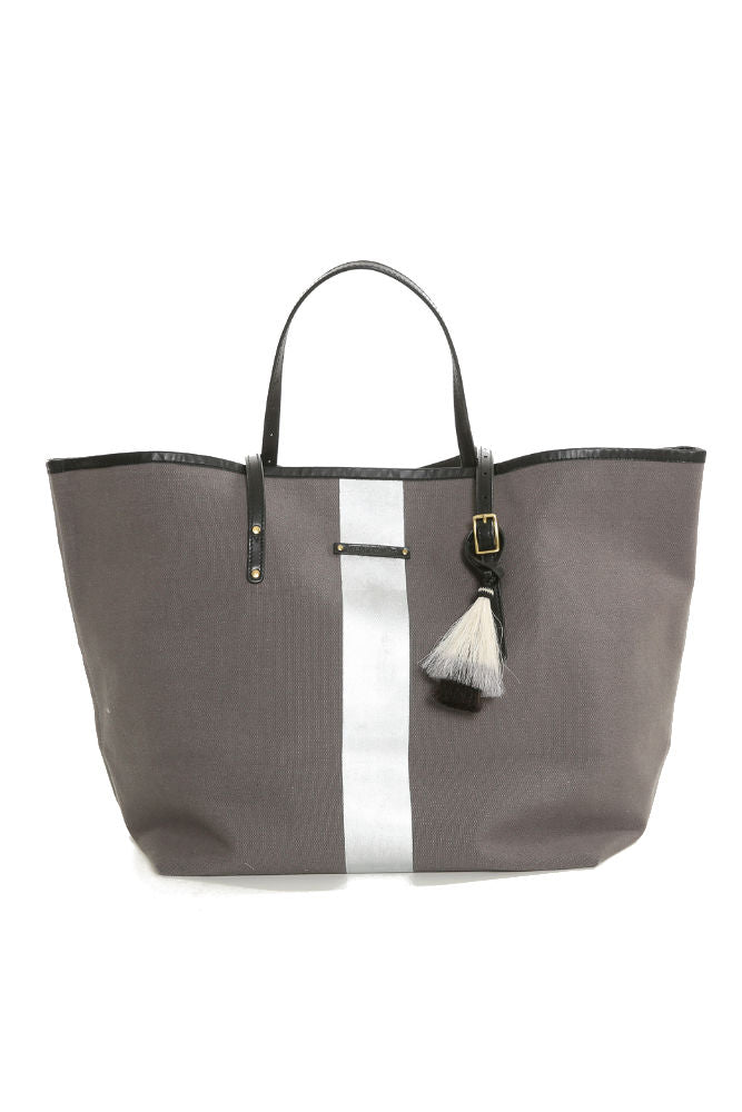 Kempton & Co Silver Striped Beach Tote