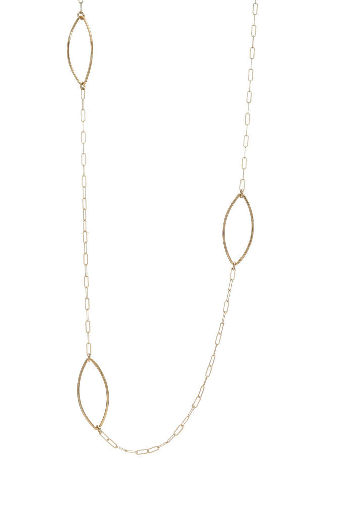 Kenda Kist Marquise Chain Link Gold Filled