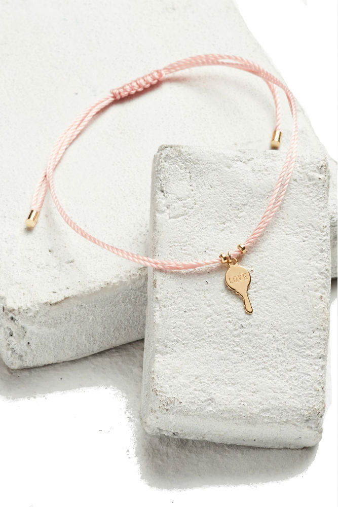 THE GIVING KEYS Key Strand Bracelet Pink