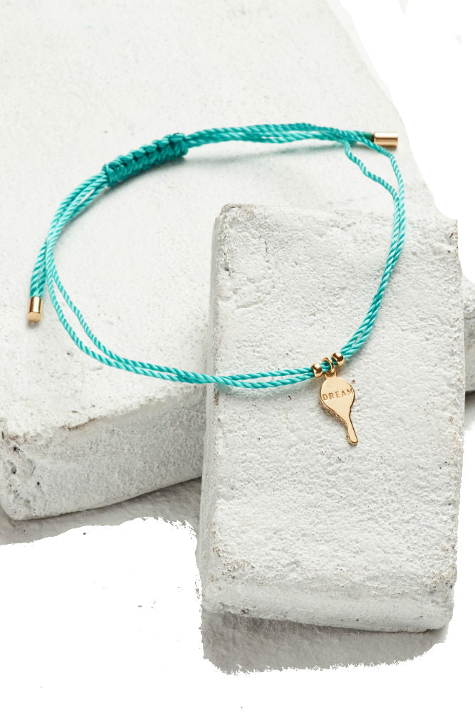 THE GIVING KEYS Key Strand Bracelet Turquoise