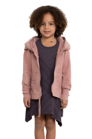 Prairie Underground Kid's Cloak Hoodie in Chambray