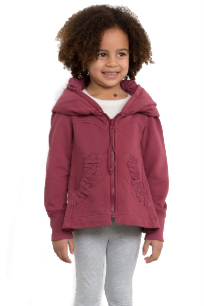 Prairie Underground Kid's Cloak Hoodie in Pomegranate