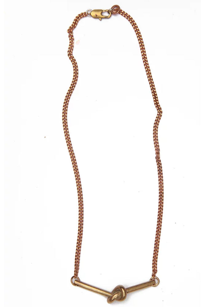 WATERSANDSTONE Knot Necklace
