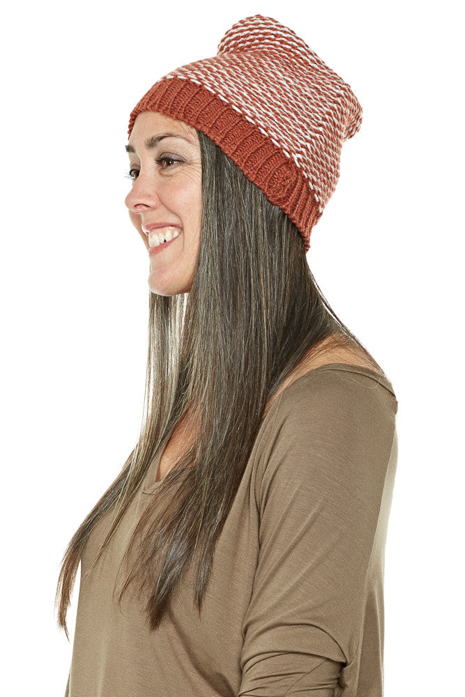 Krochet Kids Ford Slouchy Beanie in Clay