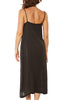 LACAUSA Alma Slip Dress in Tar