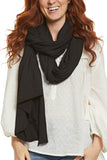 LA Made Zingo Scarf Slub Black
