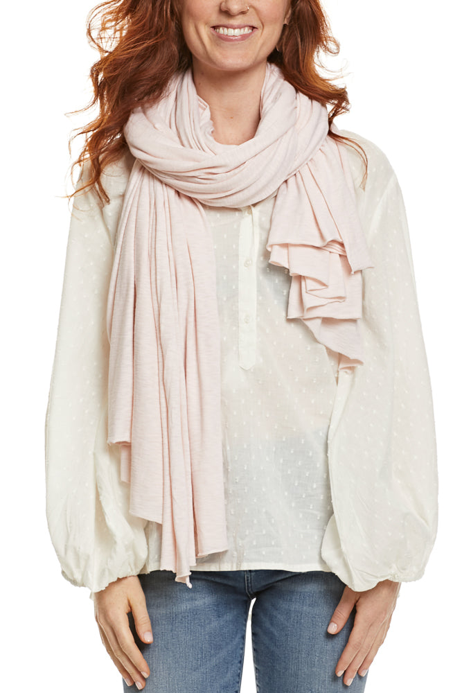 LA Made Zingo Scarf Slub Pale Peach