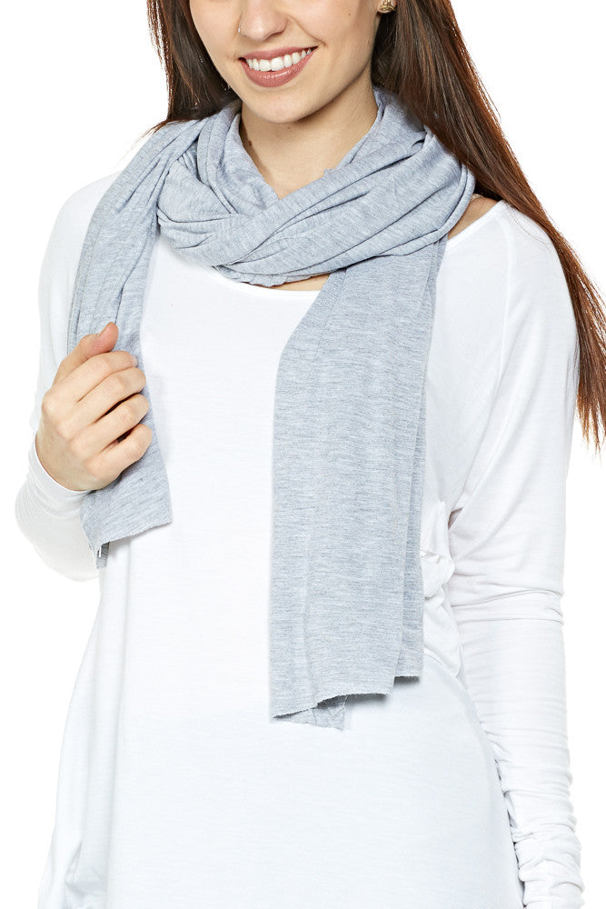 LA Made Skinny Zingo Scarf Heather Gray