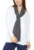 LA Made Skinny Zingo Scarf Anthracite Gray