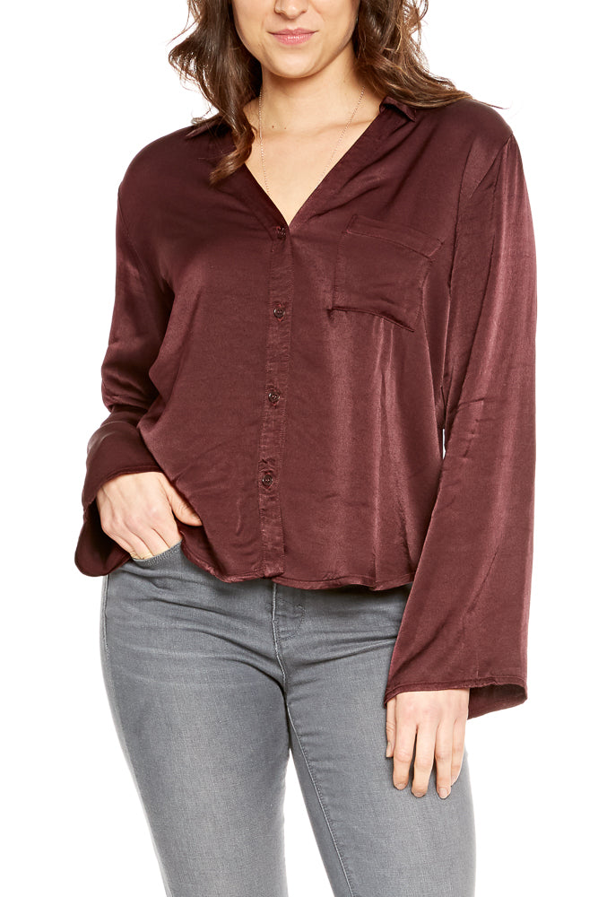 LACAUSA Vanilla Blouse in Beret