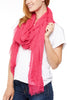 Subtle Luxury Four Way Fray Modal Scarf Flamingo