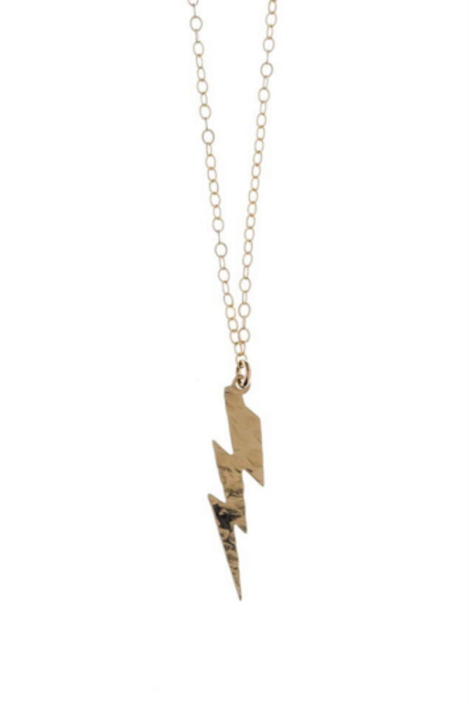 Kenda Kist Lightning Bolt Necklace in Gold Filled