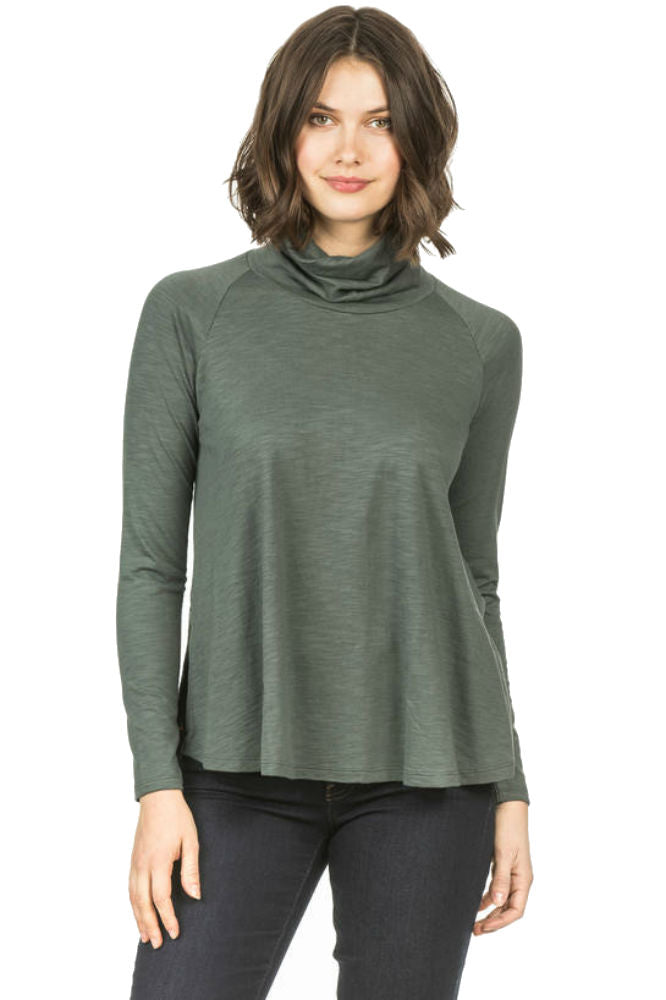 Lilla P Swing Turtleneck Mineral