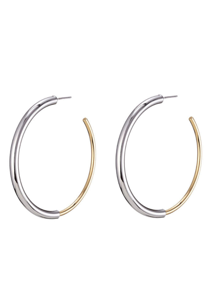 Jenny Bird Lola Hoops Gold/Rhodium