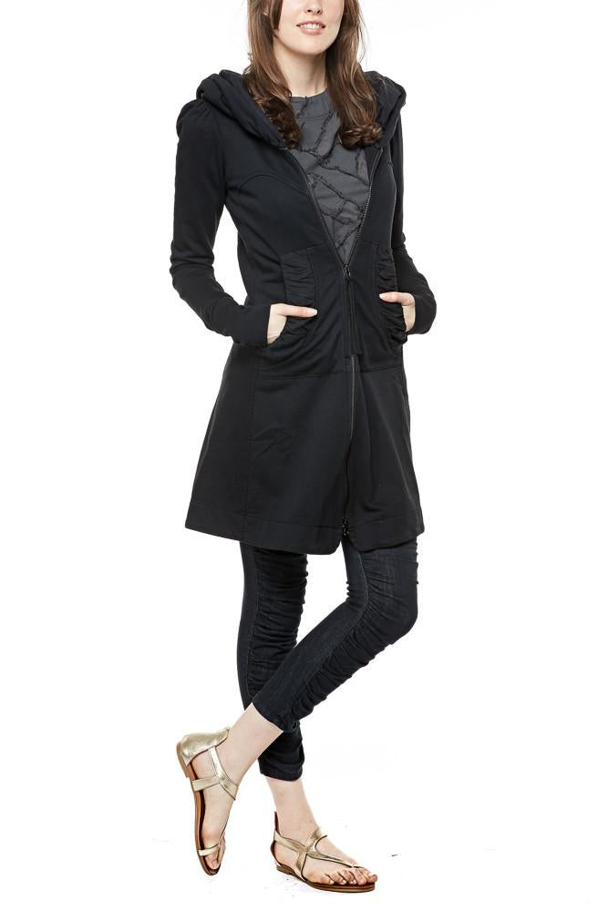 Prairie Underground Long Cloak Hoodie in Black - Est. Ship Date 9/1 PRE-ORDER