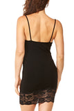 M. Rena Cami Dress w/Lace Trim in Black