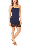 M. Rena Cami Dress w/Lace Trim in Navy Blazer - FINAL SALE