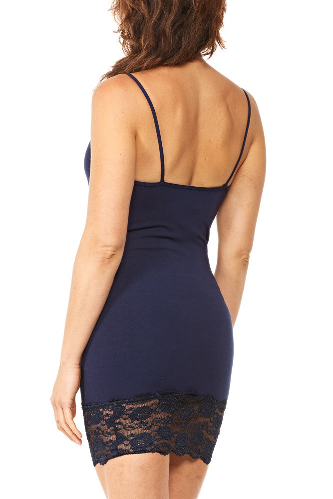 M. Rena Cami Dress w/Lace Trim in Navy Blazer