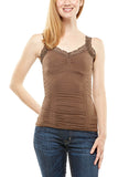 M. Rena Lace Corset Cami in Chocolate