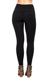 M. Rena Pintuck Leggings in Black