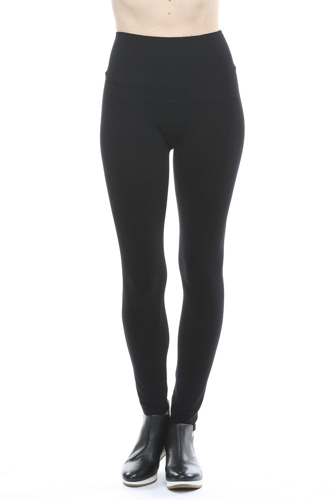 e8dc8a038dba06 M. Rena Plus Size Tummy Tuck Ankle Leggings in Black – Adorn