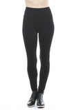 M. Rena Plus Size Tummy Tuck Ankle Leggings in Black