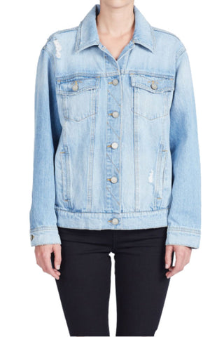 Unpublished Margaux Mid Rise Cropped Denim Flare in Blackout - FINAL SALE