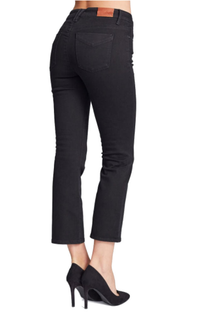 Unpublished Margaux Mid Rise Cropped Denim Flare