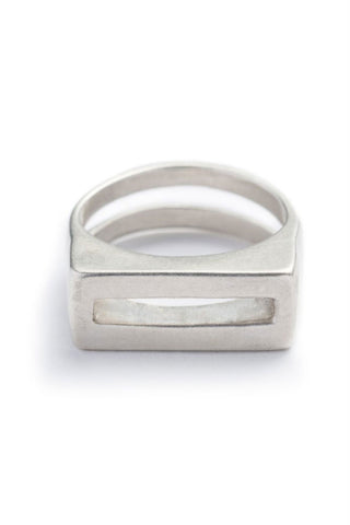 Betsy & Iya Steel Bridge Cuff in Silver Plated