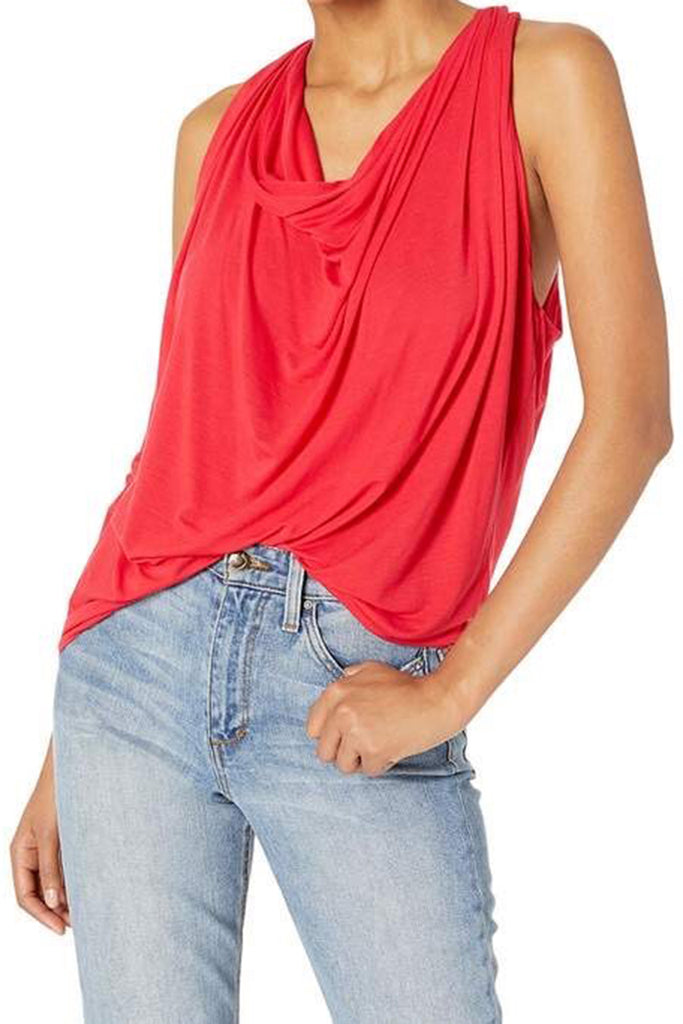 Michael Stars Eve Cowl Neck Tee Heart
