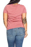 Michael Stars Jersey V-Neck Tee in Rose Hips