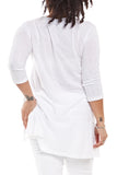 Michael Stars V-Neck Tunic in White