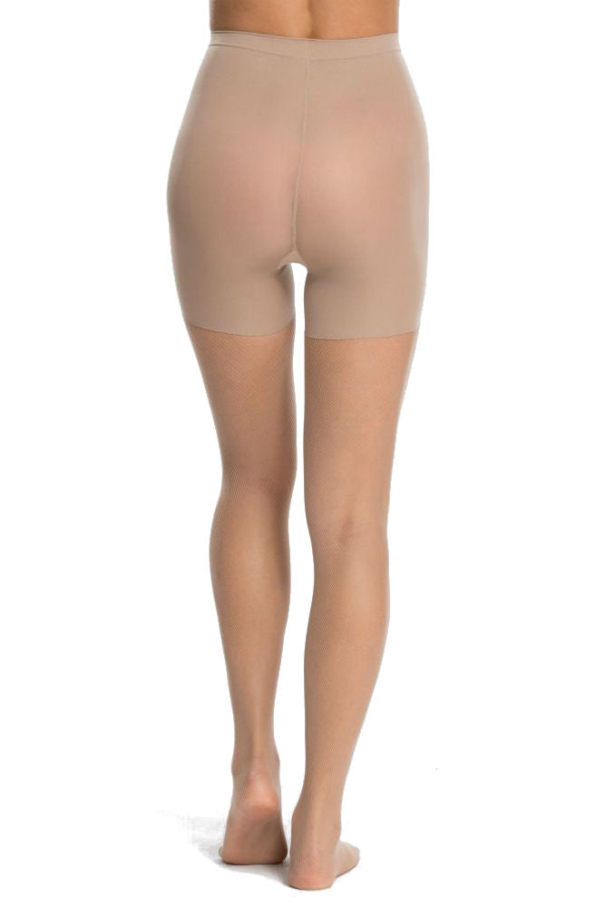 SPANX Micro-Fishnet Mid-Thigh Shaping Tights Nude
